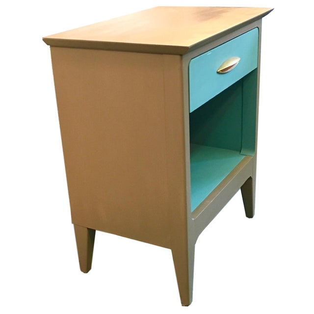Mid Century Modern Color Blocked Side Table - Image 2 of 4