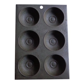 Early 20th Century Mid-Century Rustic Tin Pudding Mold For Sale