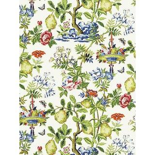 Scalamandre Shantung Garden, Bloom Wallpaper For Sale