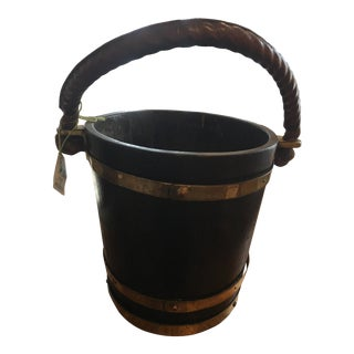English Crest Wooden Bucket For Sale