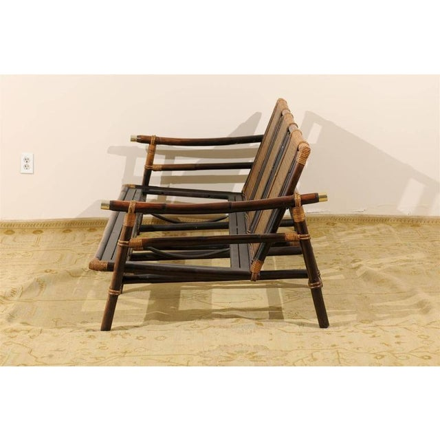 1950s Rare Restored Sofa by John Wisner for Ficks Reed- Four Available For Sale - Image 5 of 11