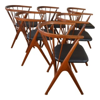 Set of Six Helge Sibast No. 8 Danish Teak Dining Chairs For Sale