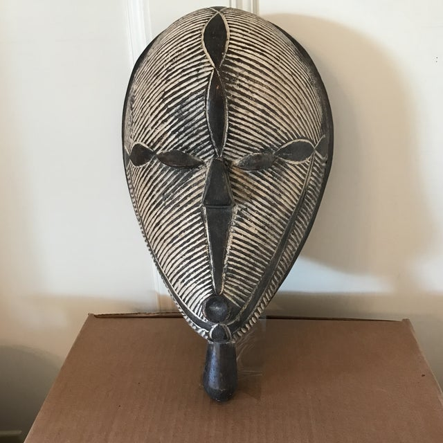Carved Wooden African Mask - Image 5 of 5