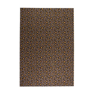 "Leopard Cashmere Blanket, Mustard, 51"" x 71"" For Sale"