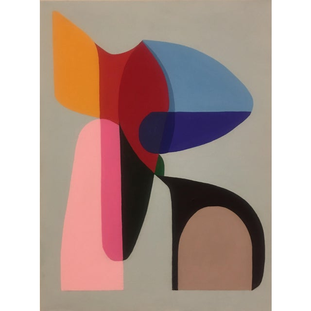 2018 Brooks Burns Original Modern Abstract Sculptural Acrylic Painting For Sale