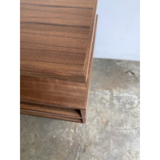 Walnut Modern Book Case For Sale In Los Angeles - Image 6 of 13