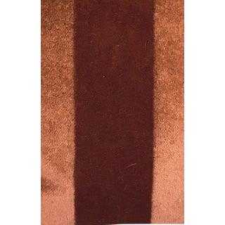 Burnt Orange Striped Mohair Velvet Swatch For Sale