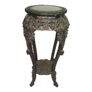 18th Century Antique Chinese Carved Rosewood Stand