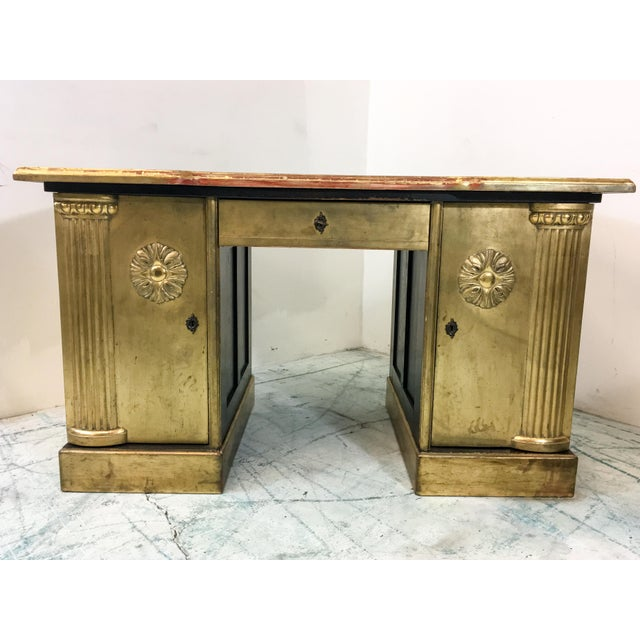 French Neo-Classical Style Gold Leaf Desk - Image 2 of 10