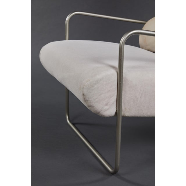 "Metal Pair of Achille Castiglioni ""Sancarlo"" Tubular Metal Chairs for Driade For Sale - Image 7 of 9"