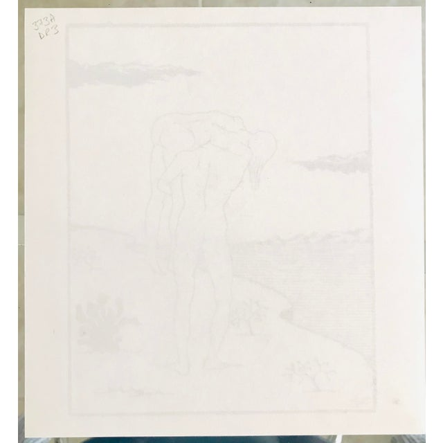 1970s Marc Eemans Lithograph, Bathing 1976 For Sale - Image 5 of 6