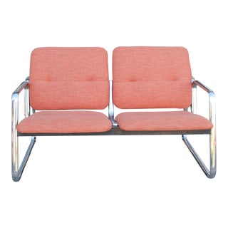 1970s Vintage Space Age Love Seat For Sale