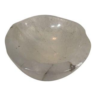 Rock Crystal Polished Quartz Catchall Bowl For Sale