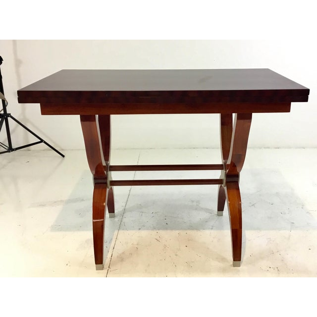 Metal Modern Mahogany Console Table For Sale - Image 7 of 7