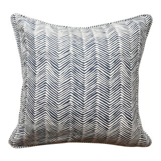 Quadrille Alan Campbell Zig Zag Pillow Cover For Sale