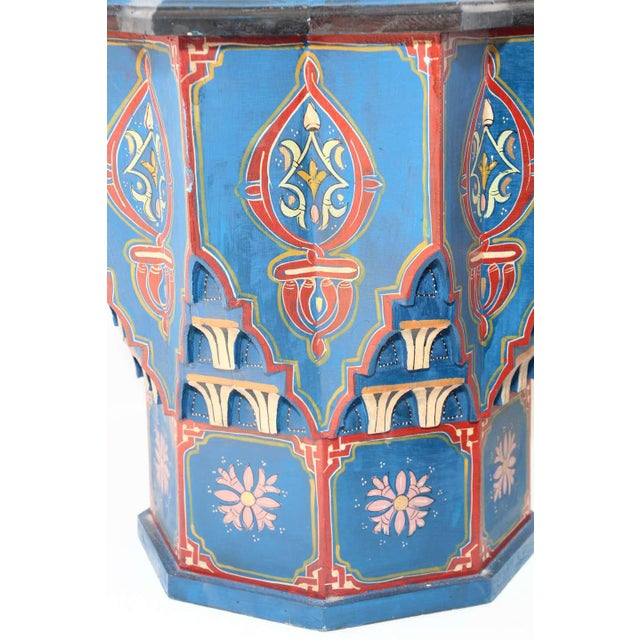 Early 20th Century Moorish Star Shape Blue Side tables - A Pair For Sale - Image 5 of 13