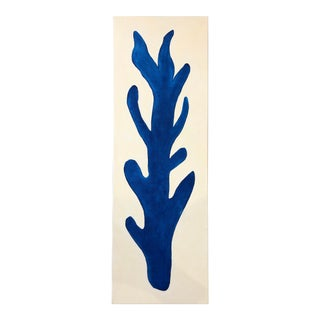 Long Blue Coral Painting by Katherine Leonard For Sale