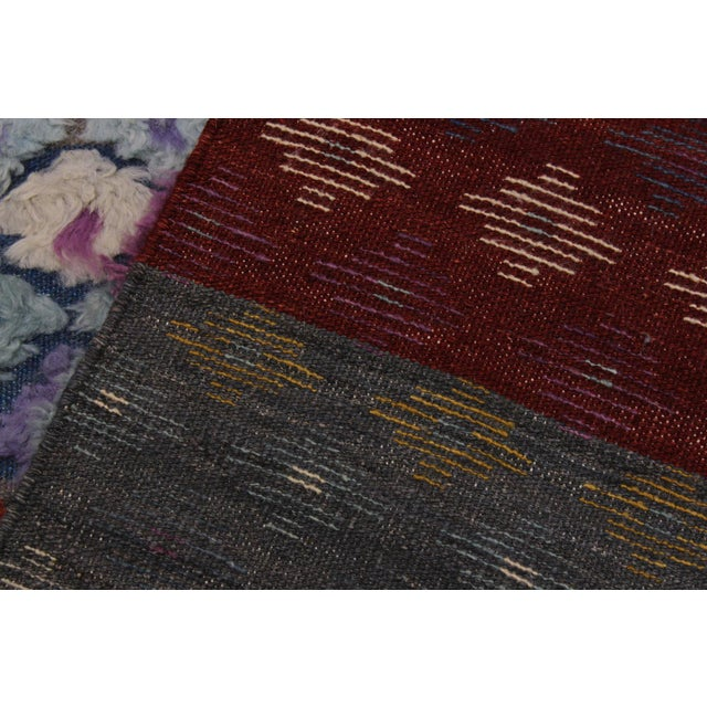 Textile Moroccan High-Low Pile Albertin Wool Rug - 8′6″ × 10′2″ For Sale - Image 7 of 8