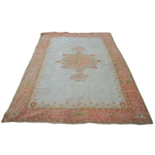 1920s Vintage Palace-Size Oushak Rug - 12′11″ × 18′ For Sale