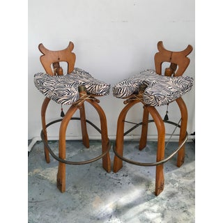 """Pair Moroccan """"Camel"""" Barstools Preview"""