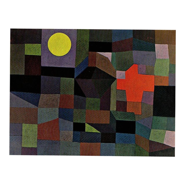 """Paul Klee Vintage 1967 Original Lithograph Print """"Fire at Full Moon"""", 1933 - Image 1 of 7"""