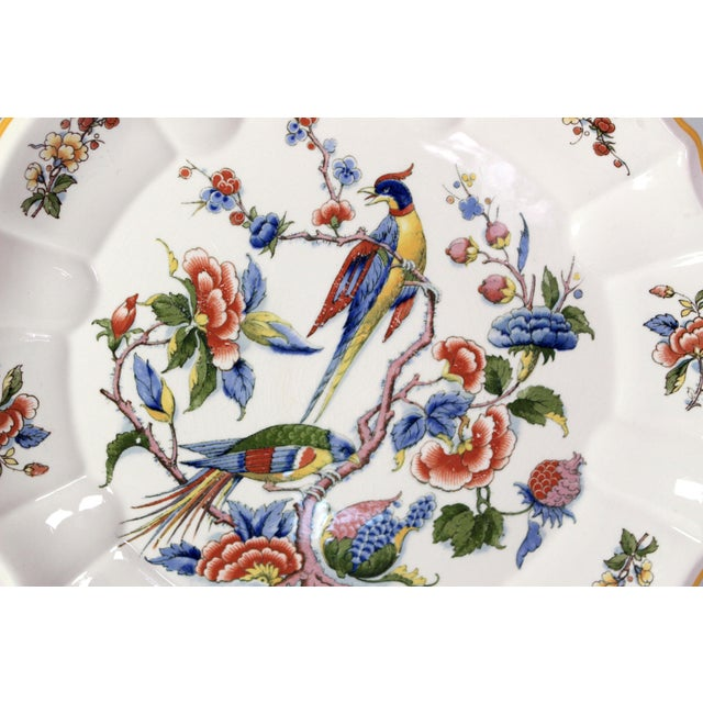 Chinoiserie 1800s Franco-German Hand-Painted Porcelain Rouen Saar Basin Plate For Sale - Image 3 of 6