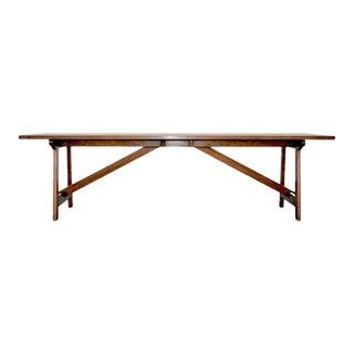 Modern Custom Walnut Dining Table For Sale