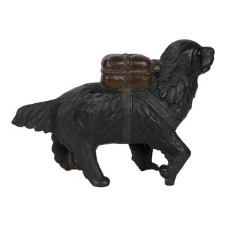 Antique Cast Iron Newfoundland Dog Coin Bank