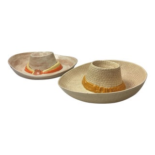 Ceramic Chip & Dip Hats - A Pair
