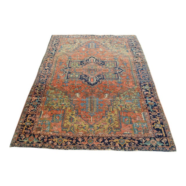 "Antique Persian Heriz Rug - 6'10"" X 9'11"" - Image 1 of 6"