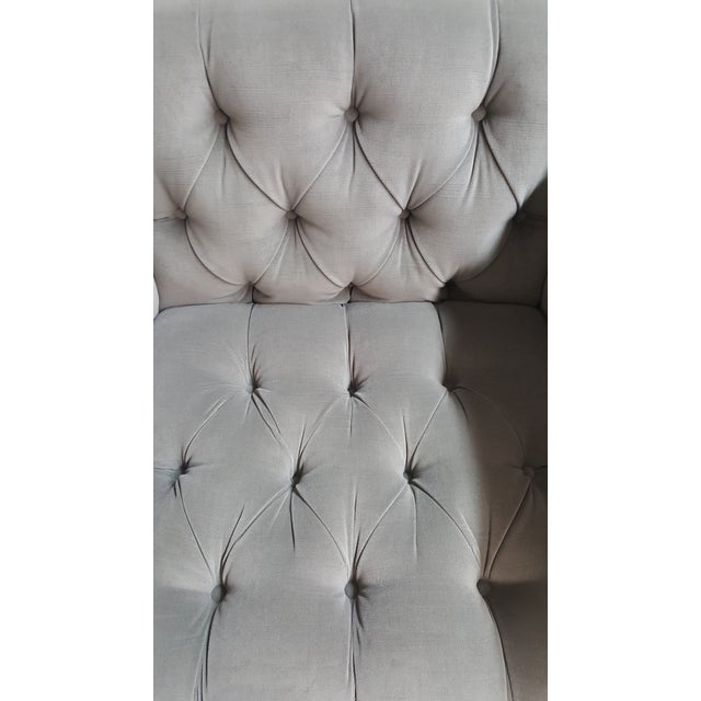 2010s Contemporary Wesley Hall Tufted Club Chair For Sale - Image 5 of 10