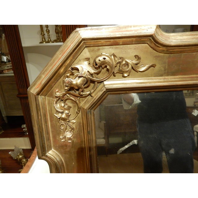 Italian Early 19th Century Italian Gold Gilt Mirror For Sale - Image 3 of 9