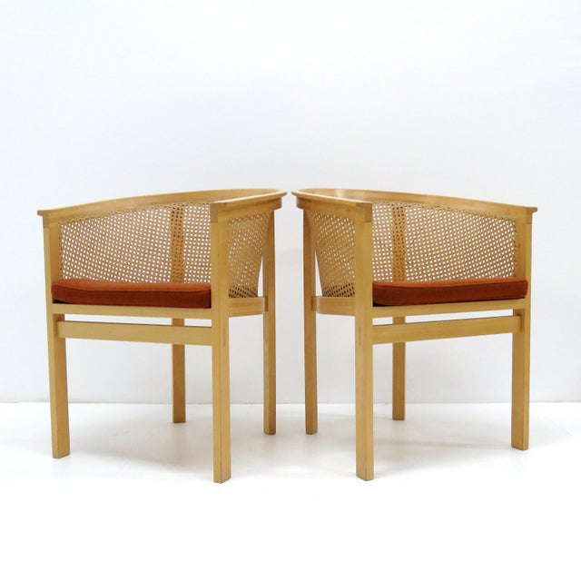 Mid-Century Modern 1980s Vintage Rud Thygesen & Johnny Sørensen Model 7703 King Series Armchairs- A Pair For Sale - Image 3 of 13