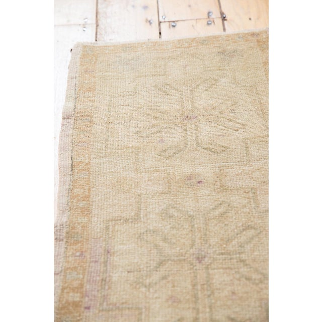 """Old New House Vintage Distressed Oushak Rug Mat - 1'6"""" X 2'9"""" For Sale - Image 4 of 9"""