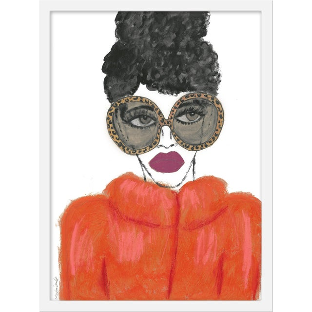"""Contemporary Medium """"Orange Coat"""" Print by Kendra Dandy, 18"""" X 24"""" For Sale - Image 3 of 3"""