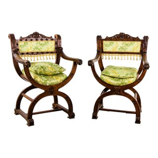 Continental 19th Century Curule Chairs - a Pair For Sale