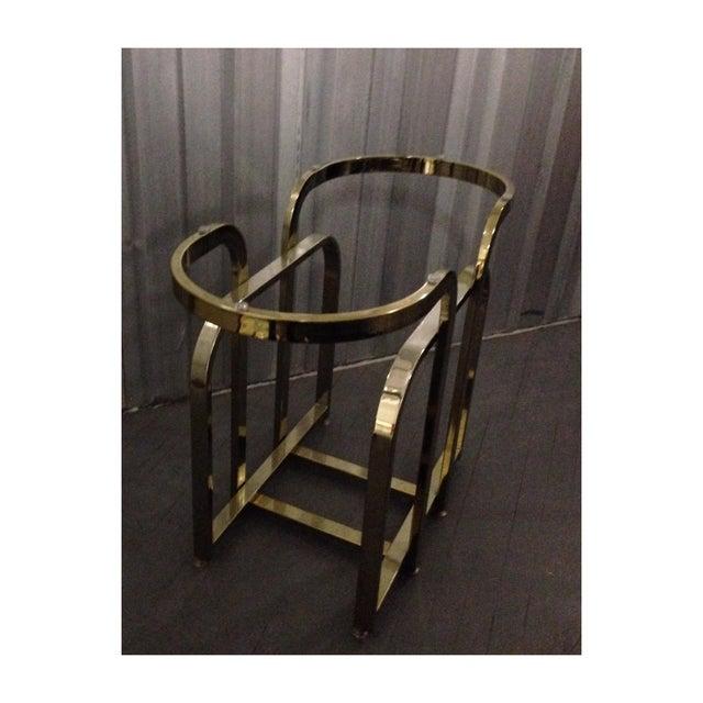 Dia Milo Baughman Brass Table Base - Image 4 of 4