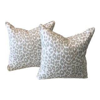 Schumacher Leopard Fabric Pillows - a Pair