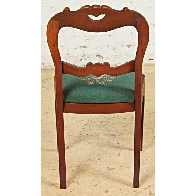 Antique Victorian Needlepoint Upholstered Chairs - Set of 6 For Sale -  Image 4 of 9 - Antique Victorian Needlepoint Upholstered Chairs - Set Of 6 Chairish