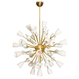 "Murano Glass ""Opalina"" Sputnik Chandelier For Sale"