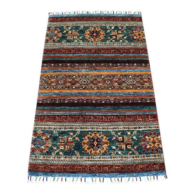 Khorjin Design Colorful Kazak Pure Wool HandKnotted Rug For Sale