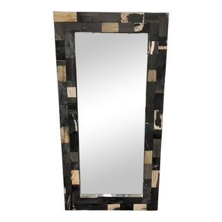 Hd Buttercup Petrified Wood Wall Mirror For Sale