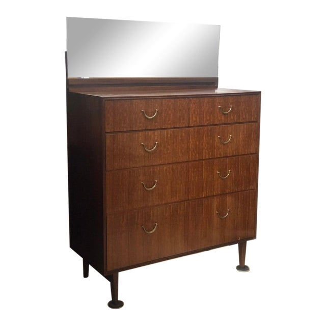 1960s 1960's Meredew Lowboy Chest of Drawers With Vanity Mirror For Sale