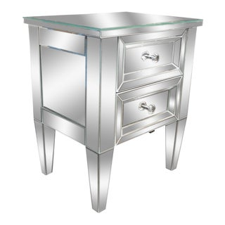 Custom Two-Drawer Mirrored Commode For Sale