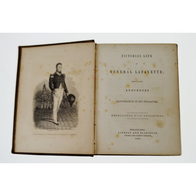 1847 Pictorial Life Of General Lafayette Hardcover Book - Image 6 of 11