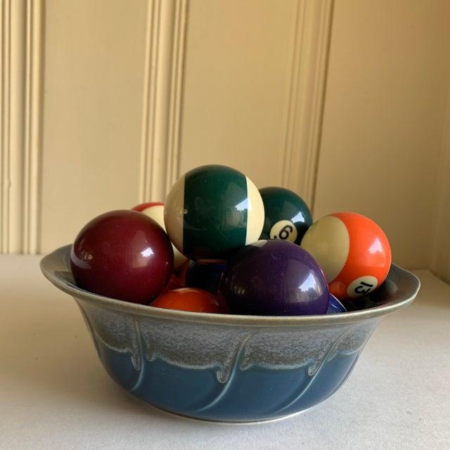 Bowl of Billiard Balls, Pool Balls, Set of Fourteen For Sale - Image 11 of 12