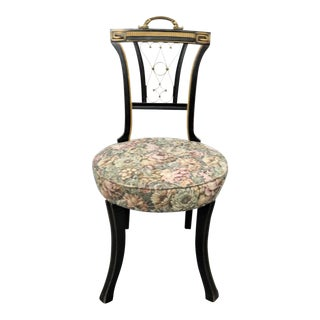 Regency Black & Gold Side Chair