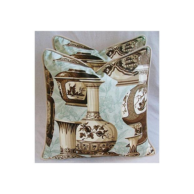 Custom Braemore Chinoiserie Vase Pillows - A Pair For Sale - Image 4 of 10