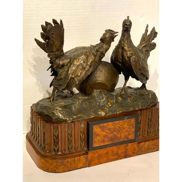 Belle Epoque French Bronze of Game Hen With Pedestal For Sale In Atlanta - Image 6 of 13