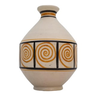 "1980s Spanish Talavera ""Toledo"" Hand Painted Pottery Vase For Sale"
